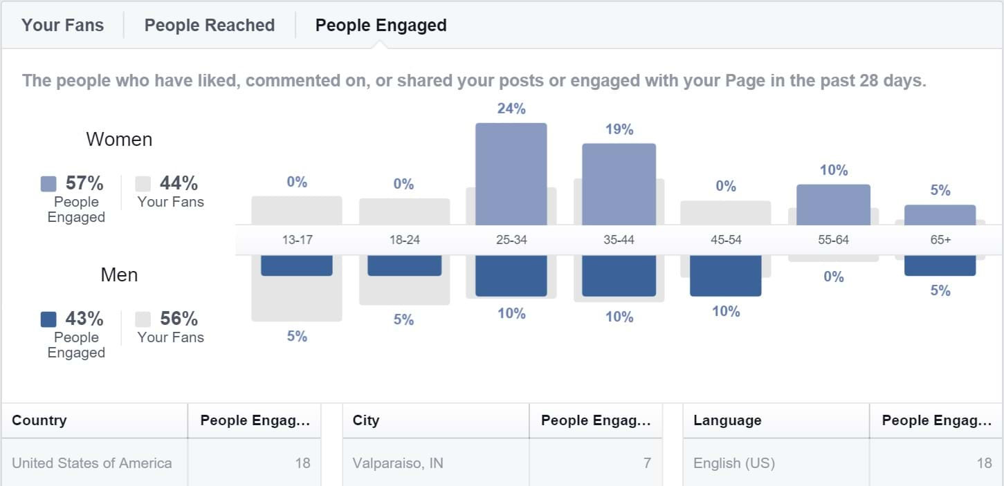 Facebook Insights - People Engaged