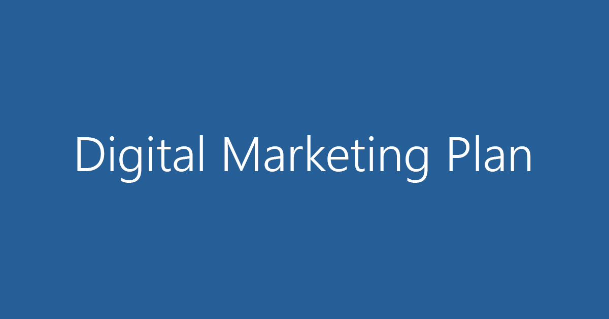 Creating a Digital Marketing Plan