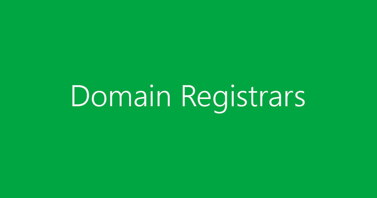 What is a domain registrar?