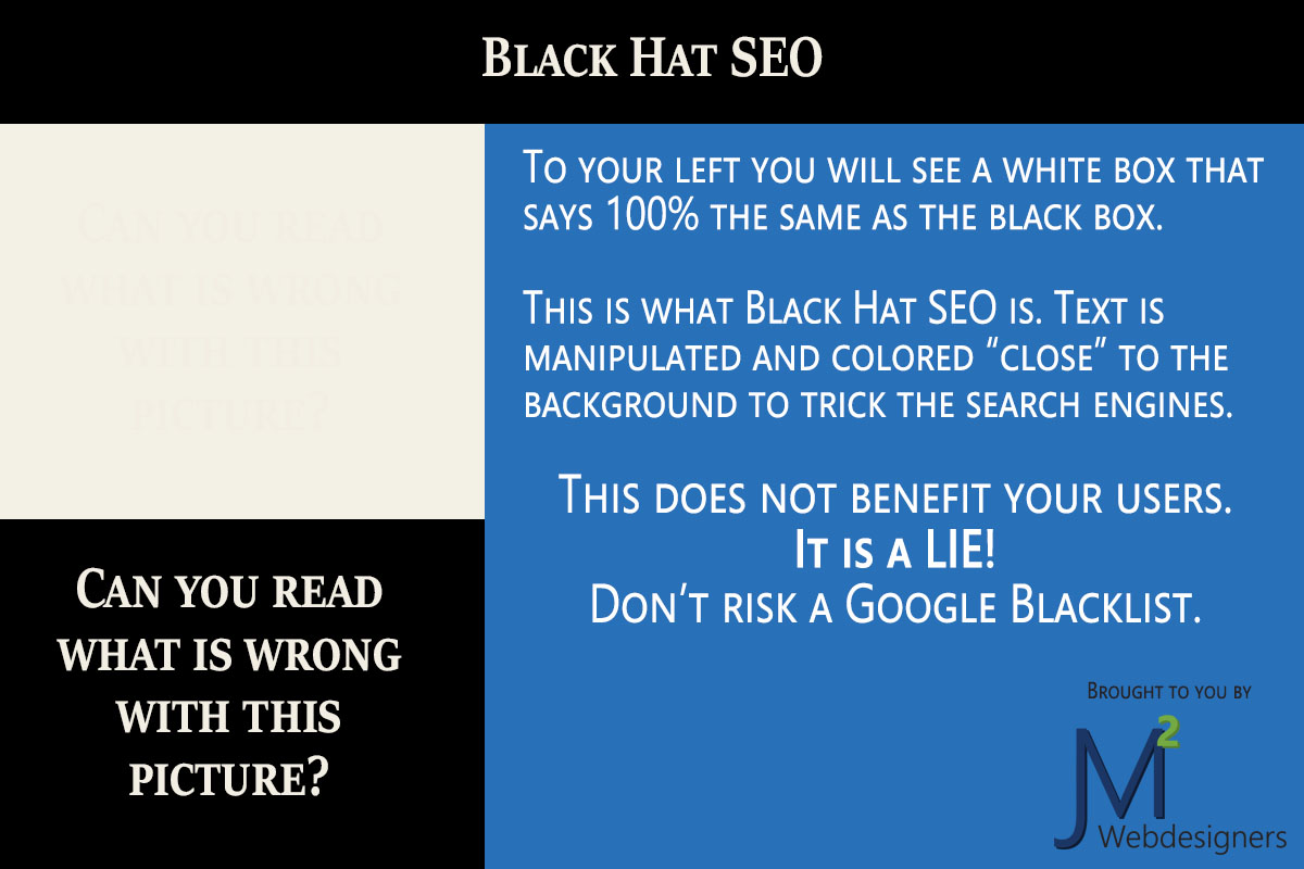 Black Hat SEO - Don't do this!