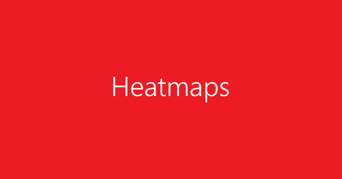 What are heatmaps?